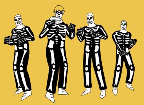 group-skull