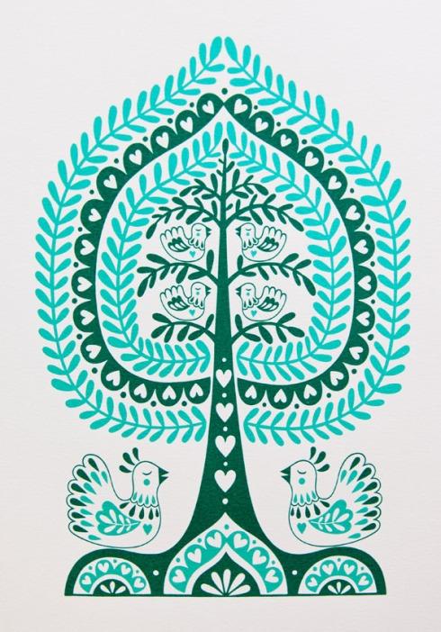 Karoline Rerrie - Folk Tree and Birds 150dpi