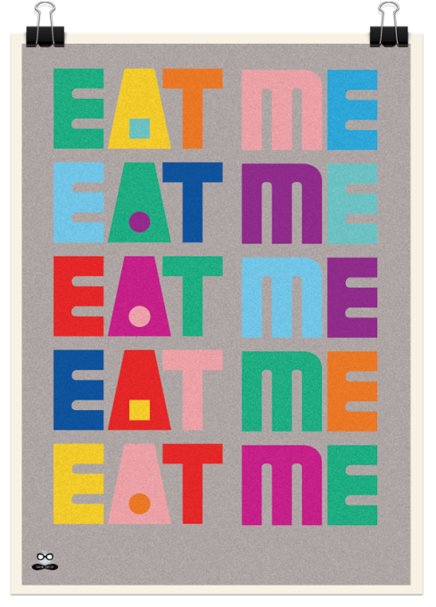 eat-me-poster-karine-fortier-typography